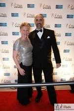 Julie Ferman (Cupid's Coach) and Paul Falzone (eLove) at the 2010 iDate Awards