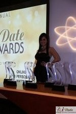 Award Model Andrea O'Campo at the 2010 iDateAwards in Miami
