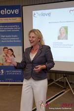 Julie Ferman (CEO of Cupid 's Coach) at iDate2011 California