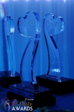 iDate Award Trophies at the 2012 Internet Dating Industry Awards in Miami