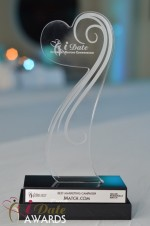 The iDate Award Trophy at the 2012 Miami iDate Awards Ceremony