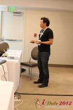 Andy Kim (CEO of Mingle)  at the June 20-22, 2012 Mobile Dating Industry Conference in Beverly Hills