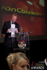 Dan Winchester reading on behalf of ChristianConnection.co.uk, winner of Best Niche Dating Site at the 2013 iDate Awards Ceremony