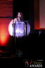 Carmelia Ray announcing Best Up and Coming Dating Site in Las Vegas at the January 17, 2013 Internet Dating Industry Awards