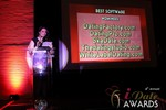 Maria Avgitidis announcing the Best Dating Software and SAAS at the 2013 Las Vegas iDate Awards Ceremony