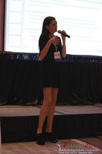 Rosalie Sutherland Of AnastasiaDate Speaking On Mobile Dating Conversions  at the 2014 Internet and Mobile Dating Industry Conference in Beverly Hills