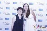Irena Stepanova and Elena Kolyasnikova at the January 15, 2015 Internet Dating Industry Awards Ceremony in Las Vegas