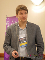Kevin Gibbons CEO Of Blueglass And Welovedates On Marketing Strategy For Mobile And Online Dating Sites  at the E.U. iDate conference and expo for matchmakers and online dating professionals in 2015