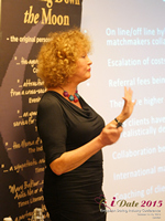 Mary Balfour CEO And Managing Director Of Drawing Down The Moon  at the E.U. iDate conference and expo for matchmakers and online dating professionals in 2015